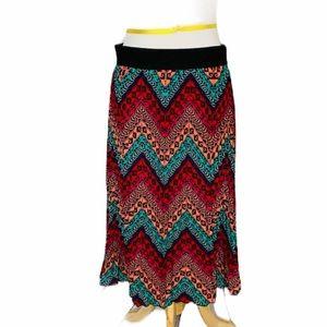 ❤️5/25 LULAROE Accordion Pleated Jill MIDI Skirt